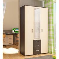 Шкафы,мебель для спальни, спальня,цветной фасад, распашные двери, шкаф с зеркало